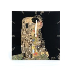 Wandklok Klimt de Kus
