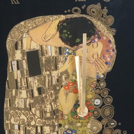 Detail Wandklok Klimt de Kus