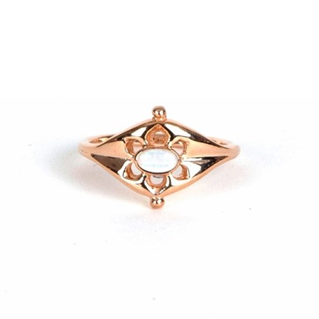 Ring Opal Ancient Gold-Plated