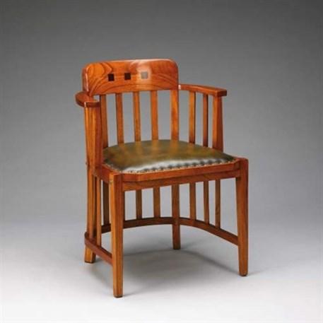 Office Chair met gehalveerde armleuningen en groen leer