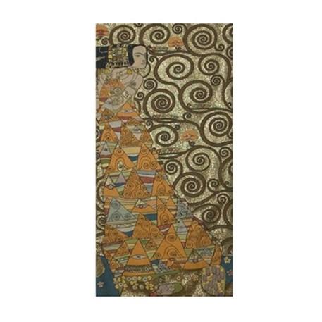 Naar rechts kijkende dame Wandkleed Klimt De Verwachting Goud