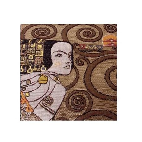 Detail Wandkleed Klimt De Verwachting Goud