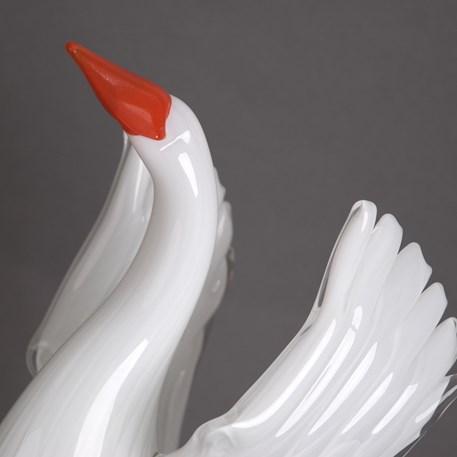 Detail Sculpture Art Deco Dame met Spiegel