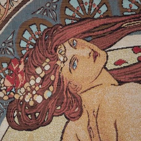 Detail Wandkleed Mucha La Danse