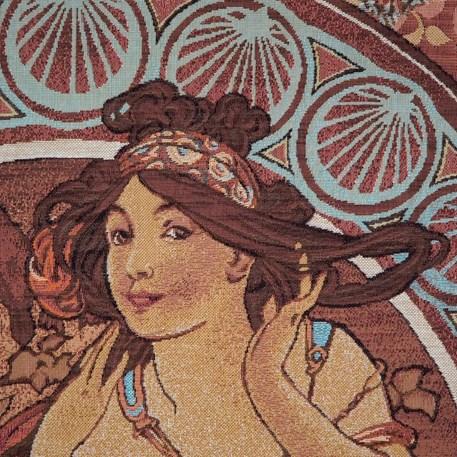 Detail Wandkleed Mucha La Musique