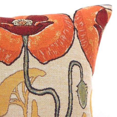 Detail Kussen Art Nouveau Pavots