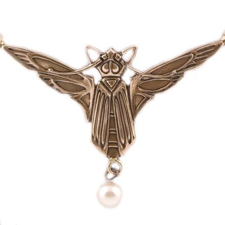 Detail Jugendstil Collier Vleermuis