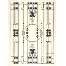 Geometrisch Art Nouveau Tapijt 1905 Otto