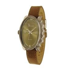 Horloge Glossy Ovaal Bruin