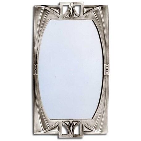 Geometrische Art Nouveau spiegel van edeltin in groot formaat
