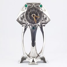 Tinnen Art Nouveau Klok Myrte