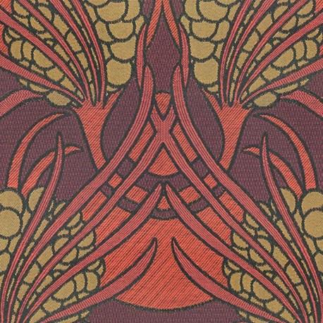 Art Deco Meubelstof.Projectstof Bloemtrossen