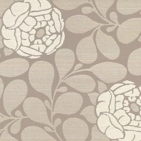 Meubel/Gordijnstof Pioenroos in beige