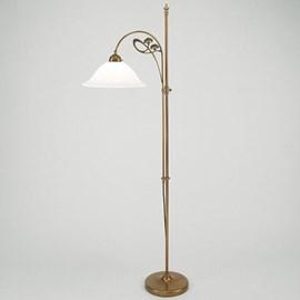 Staande lamp / Leeslamp Jugendstil Fluitekruid
