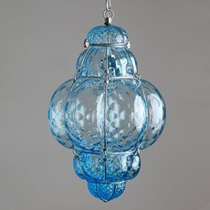 Venetiaanse Hanglamp Middel Bellezza Aquamarijn
