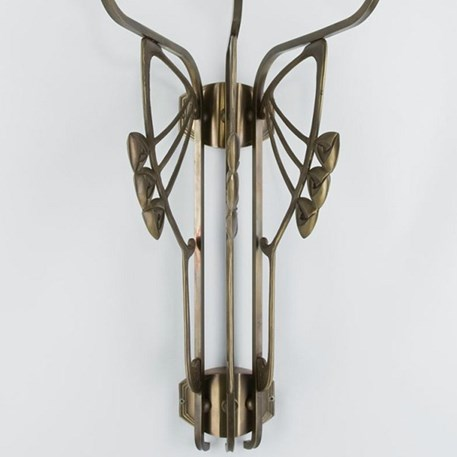 Wandlamp Mackintosh 3-lichts detail