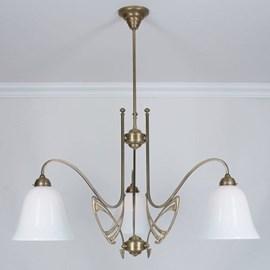 Victor Horta 3-lichts Kroonluchter Elegantie