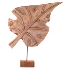 Houten Sculptuur Leaf
