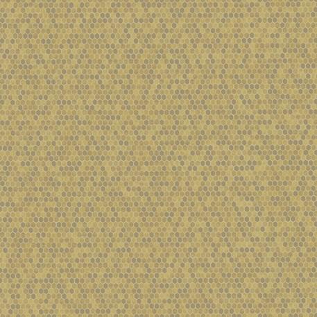 Behang Honeycomb in Goud