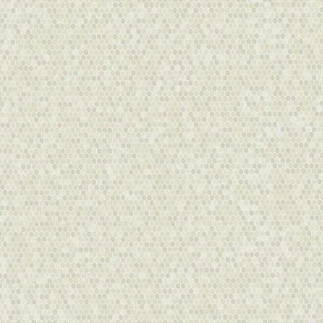 Behang Honeycomb in Zilver/Crème