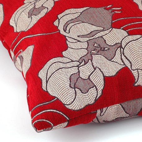 Kussen Lampionbloem Rood Detail