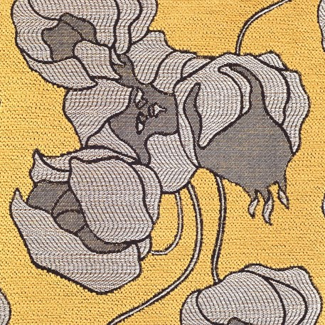 Detail Kussen Lampionbloem Geel