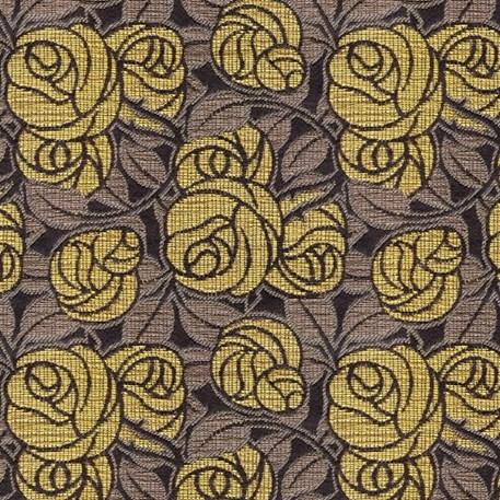 Meubelstof Doornroos in Geel
