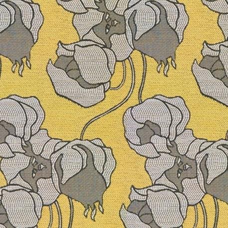 Meubelstof Lampionbloem in Geel