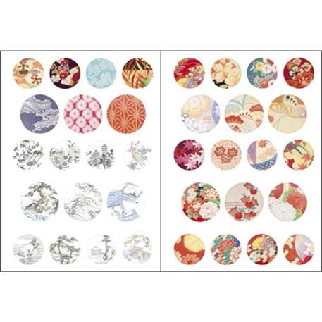 Paper Craft Book Kimono Stickers