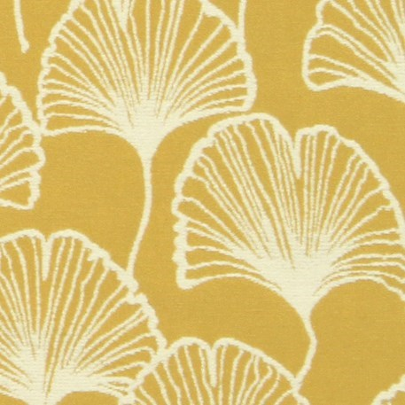 Detail Meubelstof / Gordijnstof Ginkgo Spring in Honing