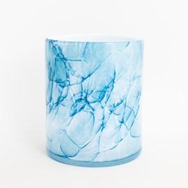 Cilindervaas Marble Blue