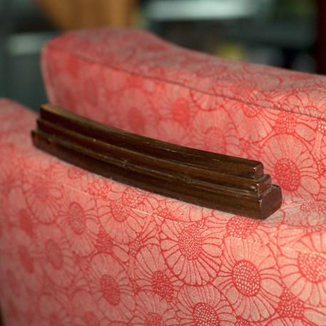 Detail Fauteuil Amice met Meubelstof Margriet