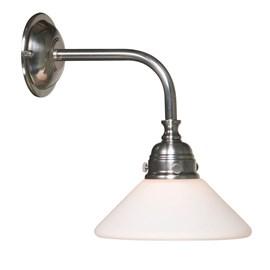 Badkamerlamp Nostalgic Conisch Matnikkel