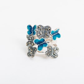 Ring Blue Butterflies