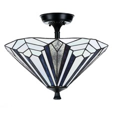 French Art Deco Tiffany Plafonnière