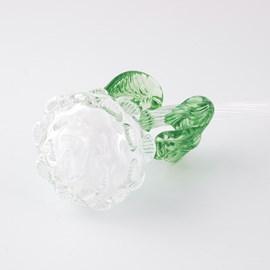 Glassculptuur Roos Wit