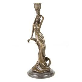 Bronzen Kandelaar  / Sculptuur Carmen