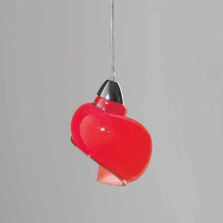 Venetiaanse Hanglamp Swirl | Rood