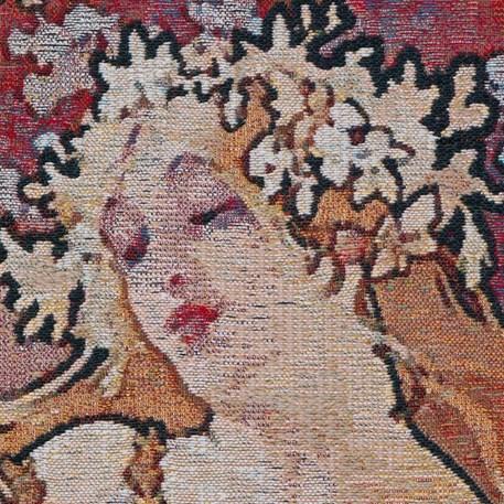 Detail Wandkleed De Vier Jaargetijden Lente