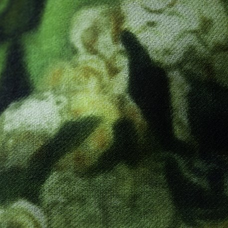 Detail sjaal Klimt 'Bloemen in Veld'
