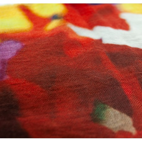 Detail sjaal Amsterdamse Tulpen