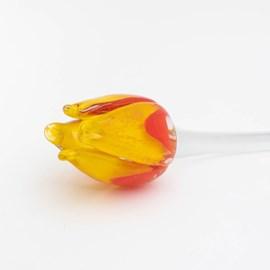 Glazen Tulp Geel/Rood lang