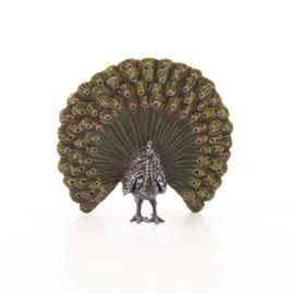 Bronzen sculptuur Pauw