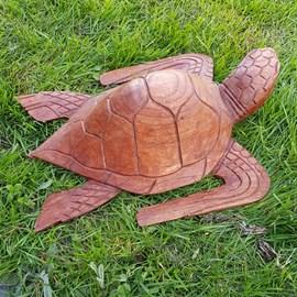 Houten Sculptuur Schildpad