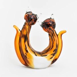 Glassculptuur Kittens