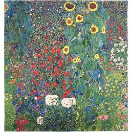 Wandtapijt Klimt Country Garden with Sunflowers