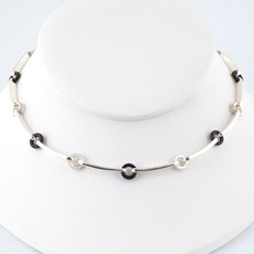 Friendship Collier Onyx & Parelmoer