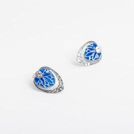 Oorknopjes Vanmij Blauw Emaille
