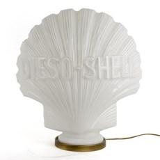 Logo Shell als Tafellamp
