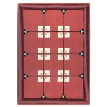 Geometrisch Art Nouveau Tapijt 1903